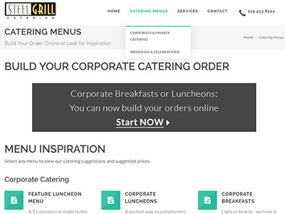 Screenshot - Steel Grill Catering